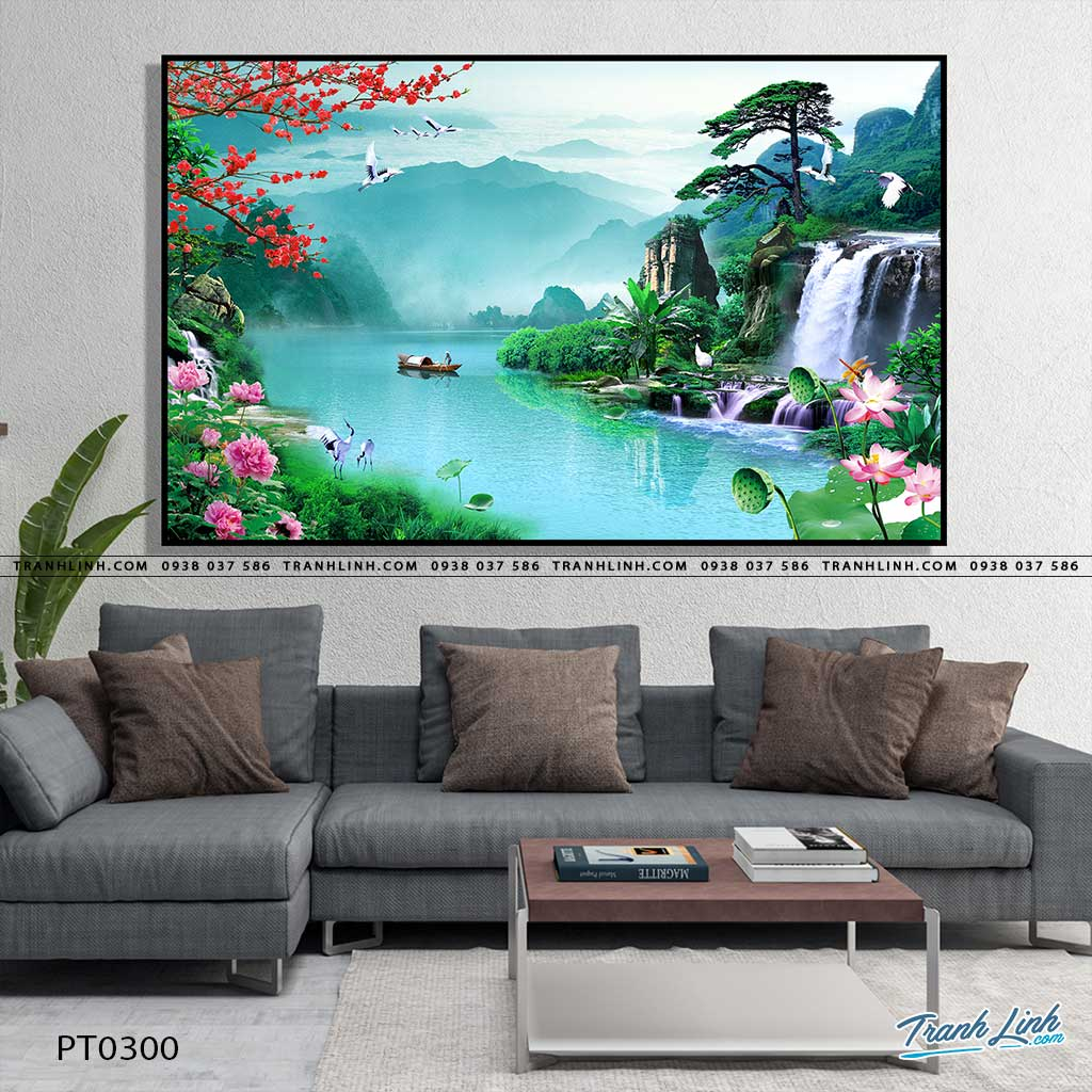 tranh in canvas phong canh phong thuy pt0300