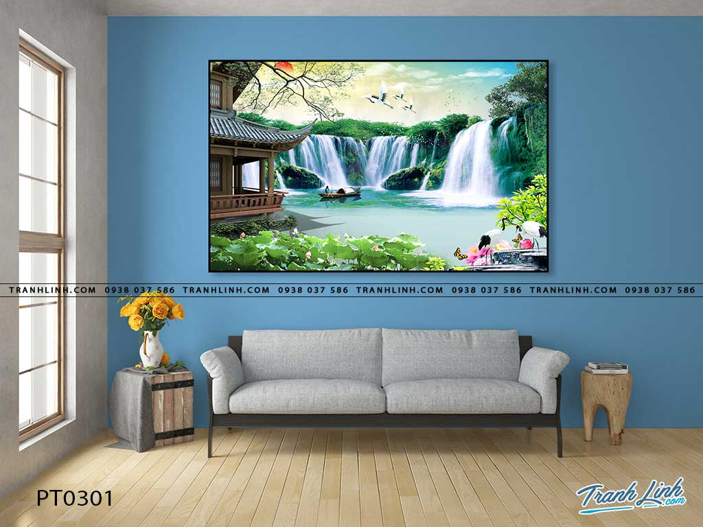 tranh in canvas phong canh phong thuy pt0301