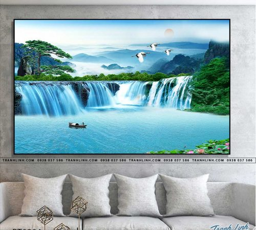 tranh in canvas phong canh phong thuy pt0304