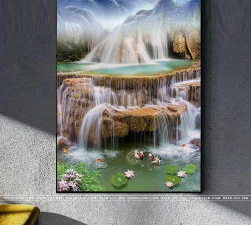 tranh in canvas phong canh phong thuy pt0306