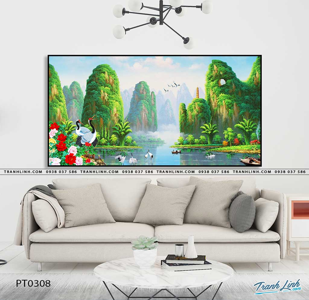 tranh in canvas phong canh phong thuy pt0308