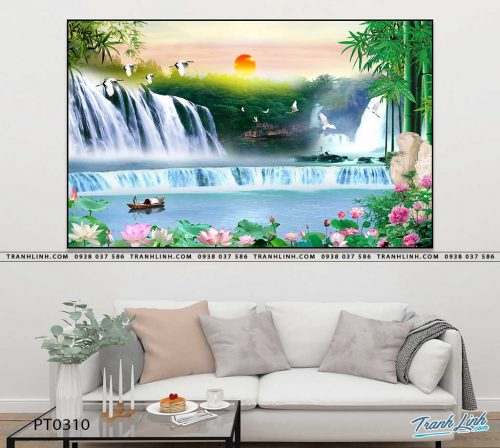 tranh in canvas phong canh phong thuy pt0310