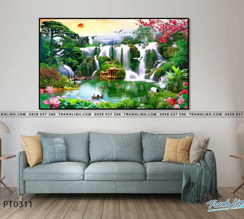 tranh in canvas phong canh phong thuy pt0311