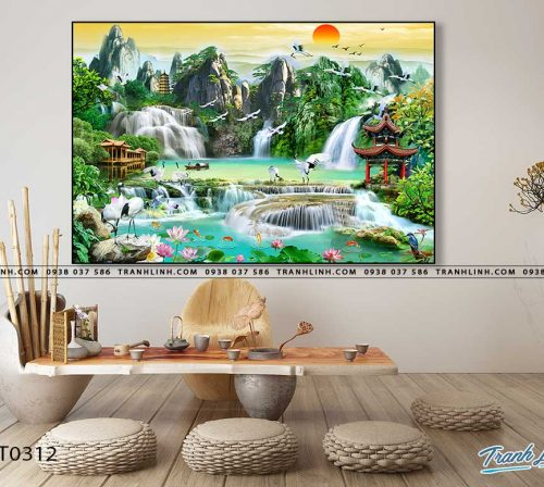 tranh in canvas phong canh phong thuy pt0312