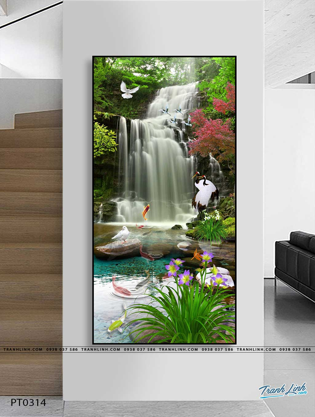 tranh in canvas phong canh phong thuy pt0314