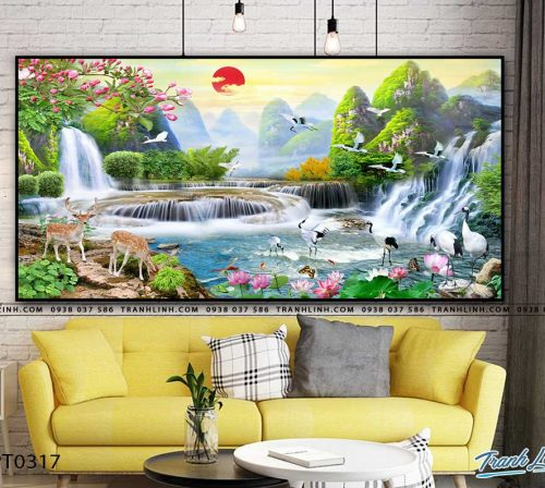 tranh in canvas phong canh phong thuy pt0317