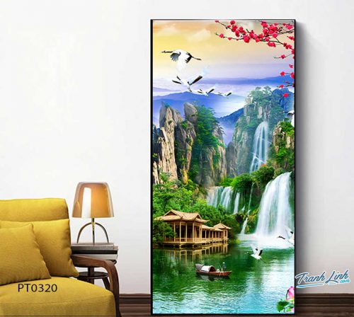 tranh in canvas phong canh phong thuy pt0320