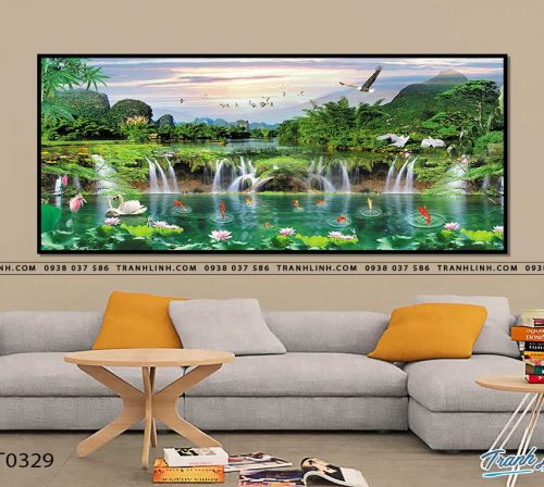 tranh in canvas phong canh phong thuy pt0329