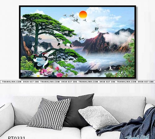 tranh in canvas phong canh phong thuy pt0331