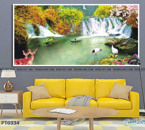 tranh in canvas phong canh phong thuy pt0334