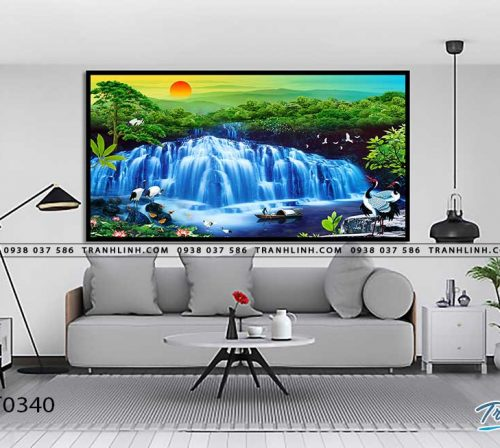 tranh in canvas phong canh phong thuy pt0340