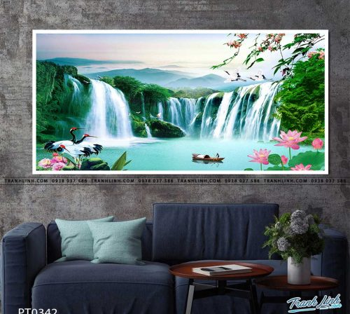 tranh in canvas phong canh phong thuy pt0342