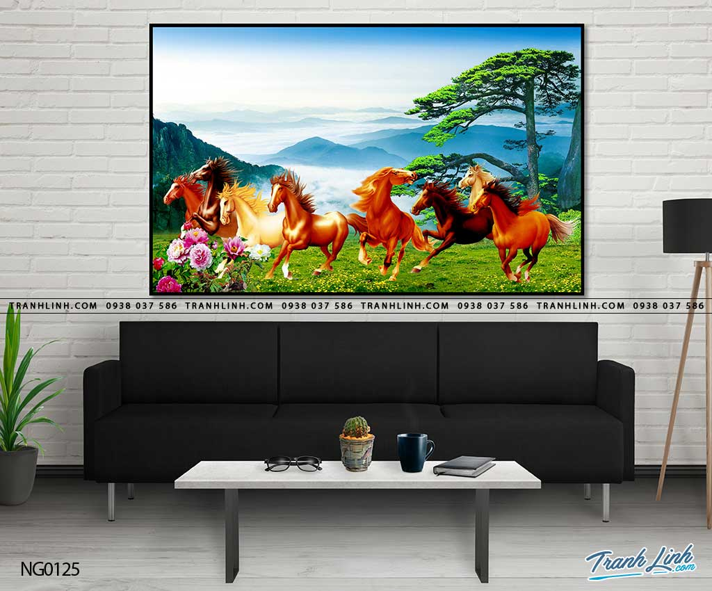 ngựa phi trên đồng cỏ