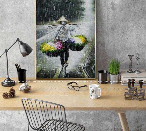 tranh canvas ganh hoa 1