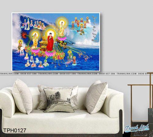 tranh canvas phat tay phuong cuc lac 15