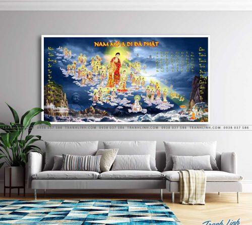 tranh canvas phat tay phuong cuc lac 4