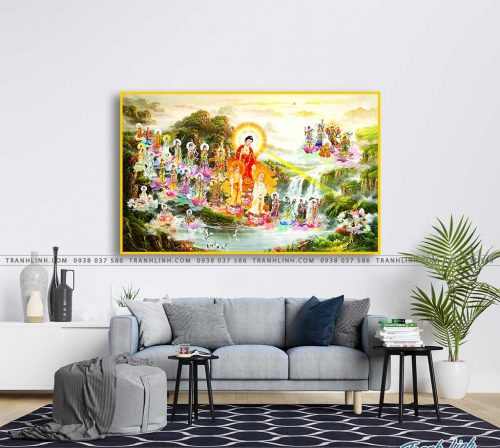 tranh canvas phat tay phuong cuc lac 7