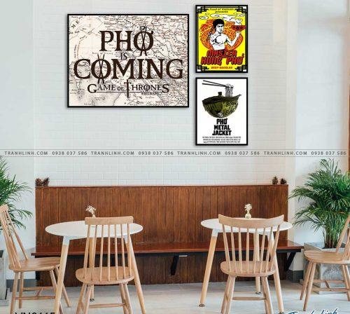 tranh canvas pho poster