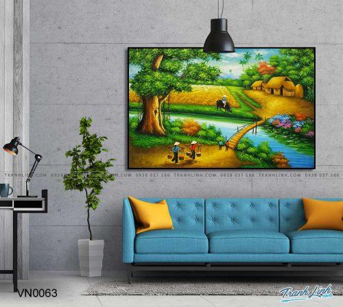 tranh canvas phong canh que huong dong que 36