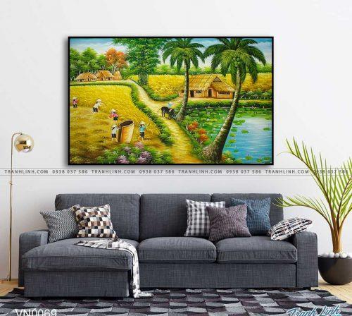 tranh canvas phong canh que huong dong que 38