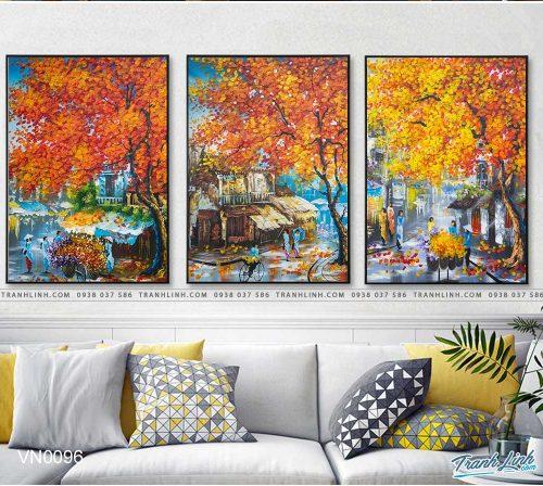 tranh canvas phong canh que huong pho co 12