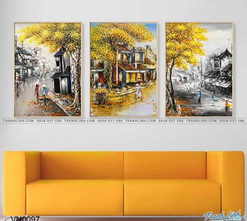 tranh canvas phong canh que huong pho co 13