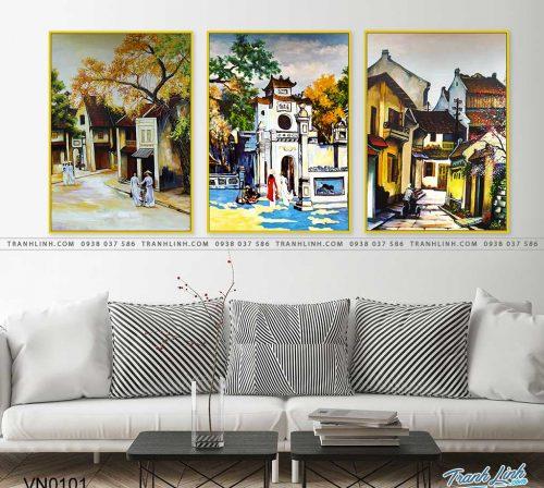 tranh canvas phong canh que huong pho co 17