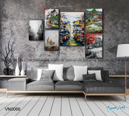 tranh canvas phong canh que huong pho co 2