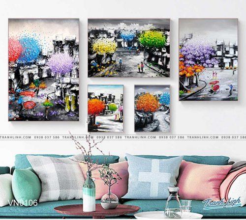 tranh canvas phong canh que huong pho co 22