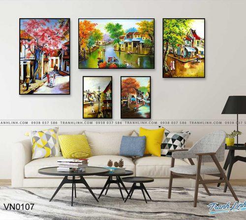 tranh canvas phong canh que huong pho co 23
