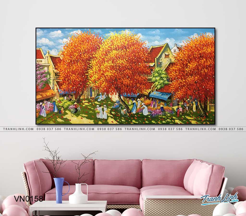 tranh canvas phong canh que huong pho co 26