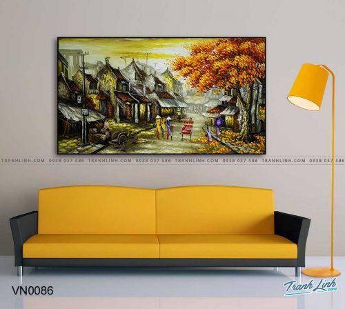 tranh canvas phong canh que huong pho co 3