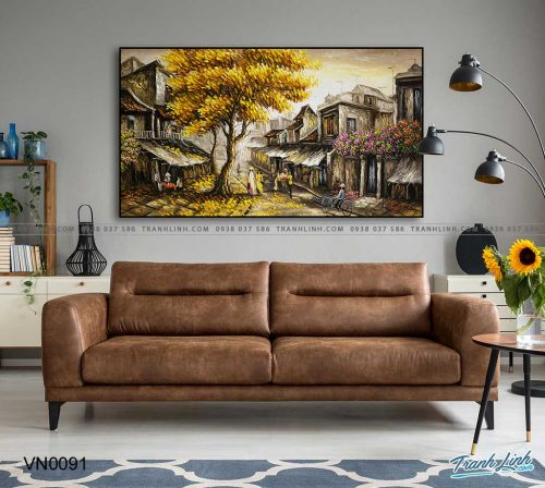 tranh canvas phong canh que huong pho co 7