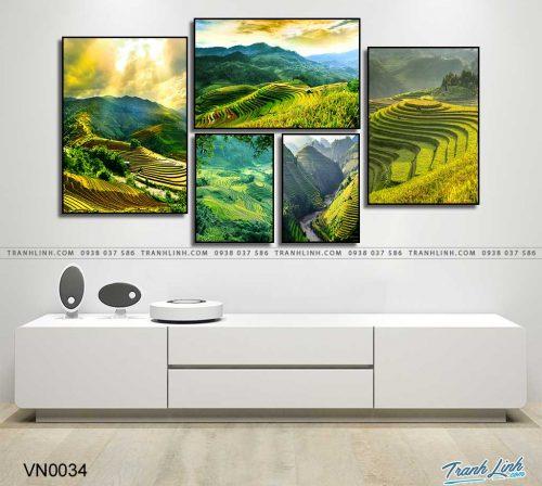 tranh canvas phong canh que huong ruong bac thang sapa 1