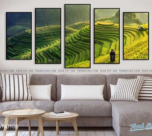 tranh canvas phong canh que huong ruong bac thang sapa 4