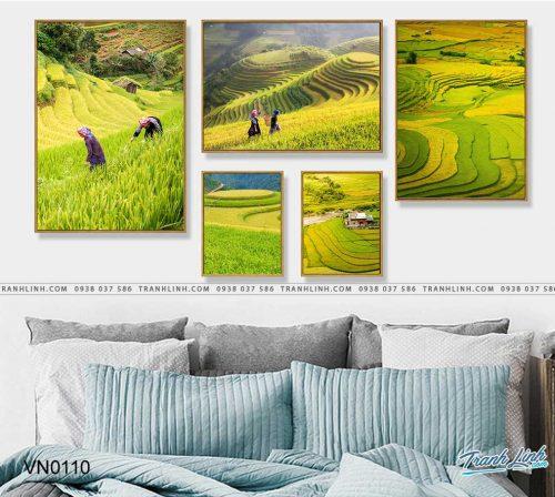 tranh canvas phong canh que huong ruong bac thang sapa 6