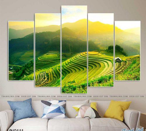 tranh canvas phong canh que huong ruong bac thang sapa 7