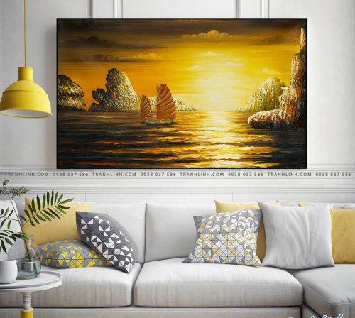 tranh canvas phong canh que huong vinh ha long 1