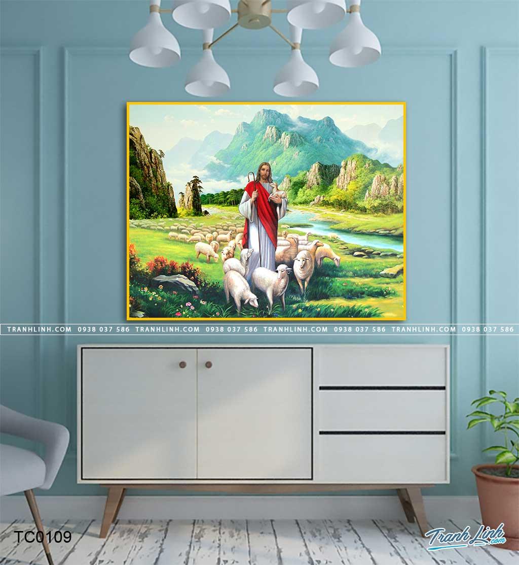 tranh canvas chua chan chien 10