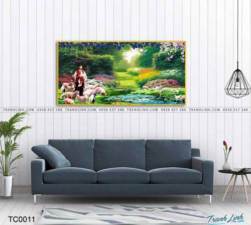 tranh canvas chua chan chien 2