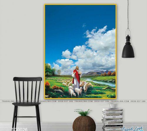 tranh canvas chua chan chien 4