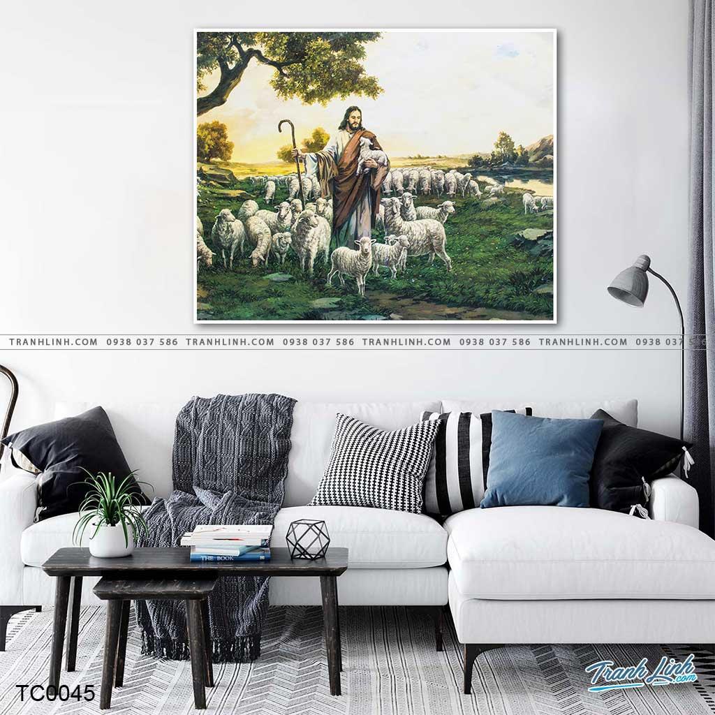 tranh canvas chua chan chien 5