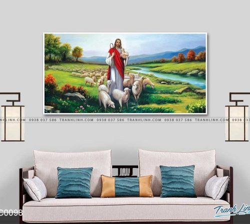 tranh canvas chua chan chien 8