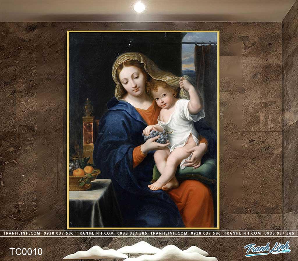 tranh canvas duc me maria 1