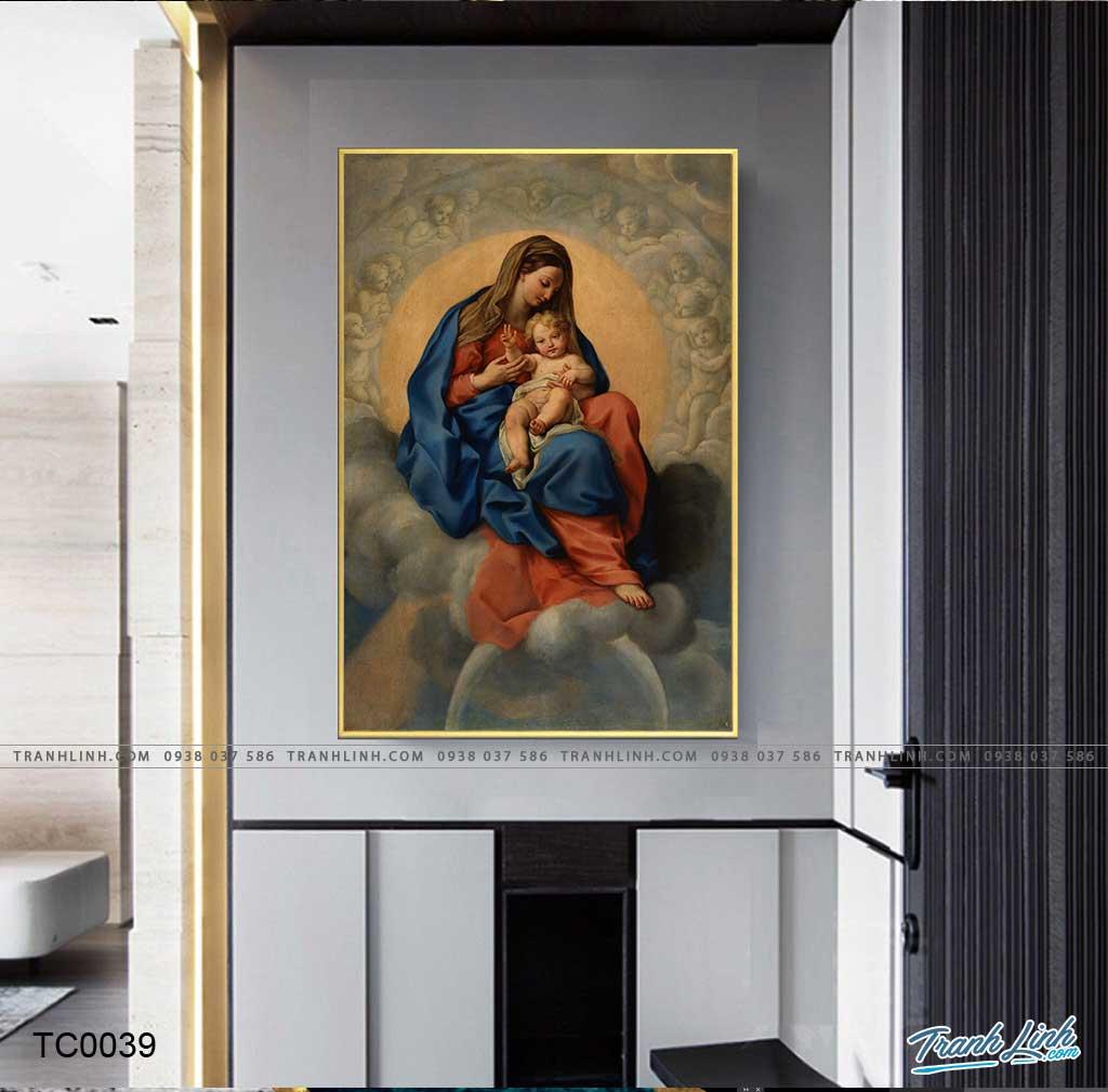 tranh canvas duc me maria 11