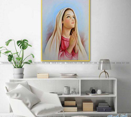 tranh canvas duc me maria 12