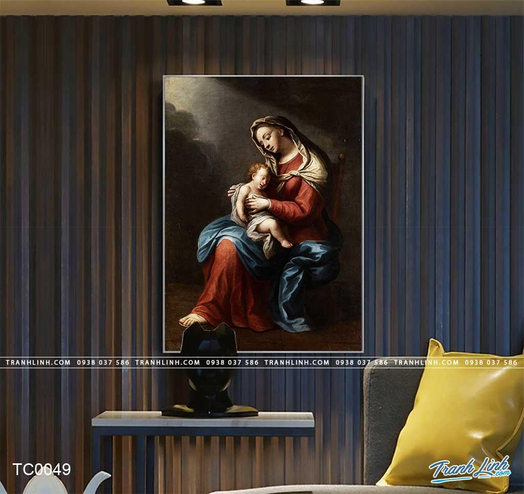 tranh canvas duc me maria 13