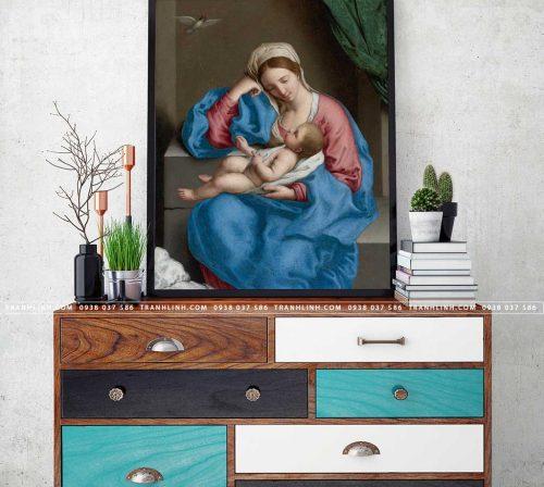 tranh canvas duc me maria 2