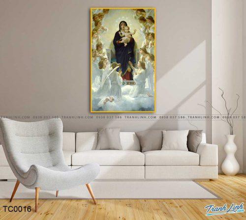 tranh canvas duc me maria 3