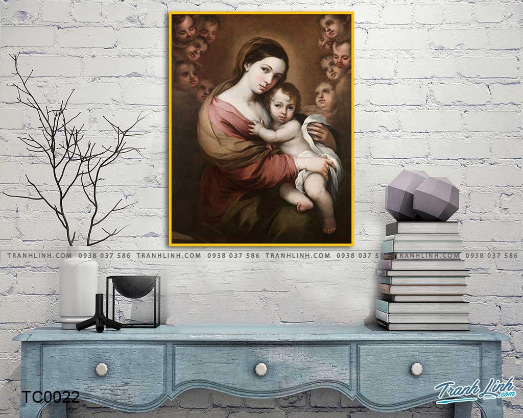 tranh canvas duc me maria 5